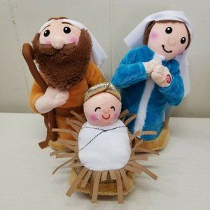 Christmas Nativity Holy Family Animated Plush Toy